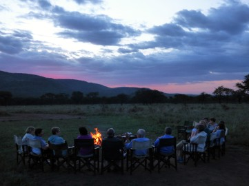 Campfire on the Serengeti