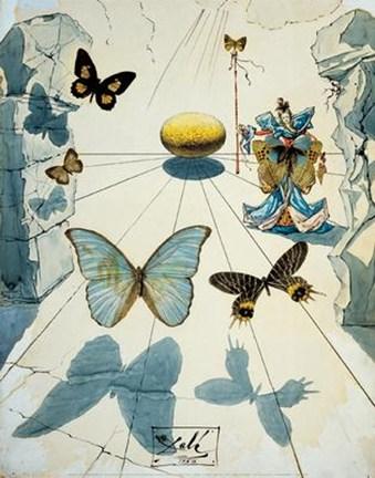 Salvador Dali's painting, Allegorie de Soie.