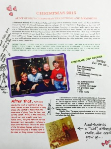 My page for the family memory book... 2015